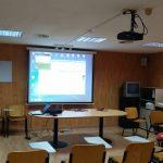Instalación  de proyector, pantalla y sonido Aulas de EPA Segorbe
